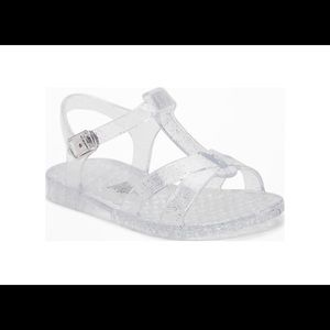 Old Navy Jelly T Strap Sparkle Sandals